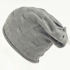 high quality fashion knit long beanie hat for men