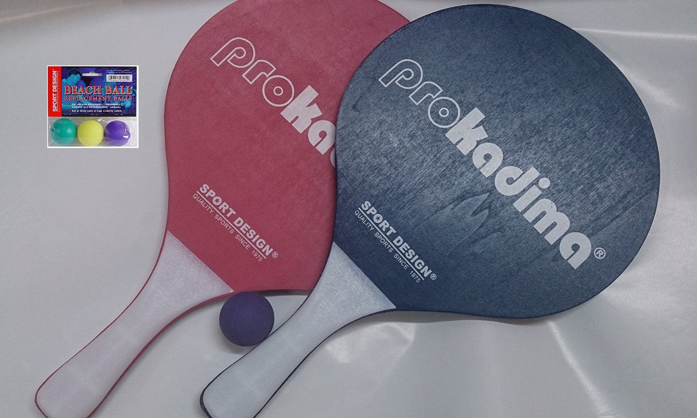 Pro Kadima: Paddle Set Plus Replacement Smashballs Bundle (Blue & Red)