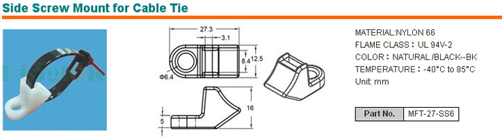 Wire Saddle Nylon Cable Tie Holder cable tie for the automotive ...
