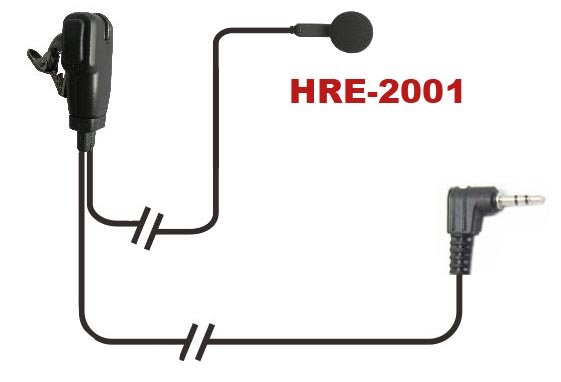 Acoustic tube headset secret Radio Headset <strong>communication</strong> with switchable vox and ptt