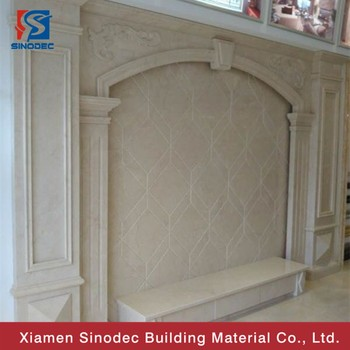 European Style Home Depot Stone Wall Cream Marble Slab For Background