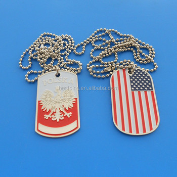 wholesale personalized usa american flag dog collar tag custom pet