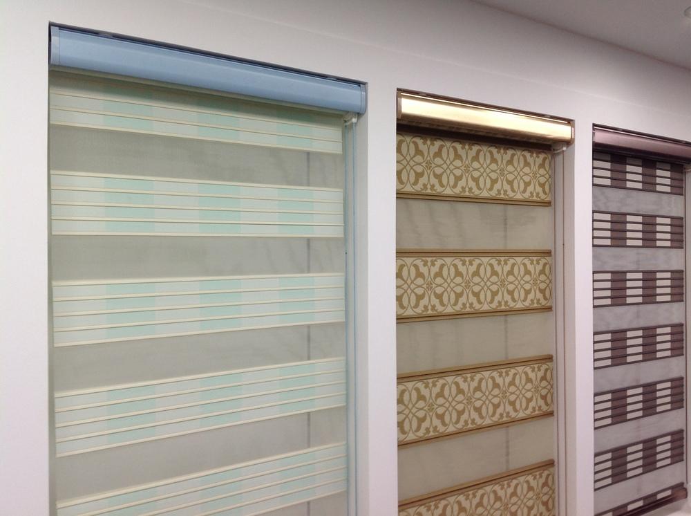 popular heavy duty transparent roller sheer blindsmanul zebra blinds