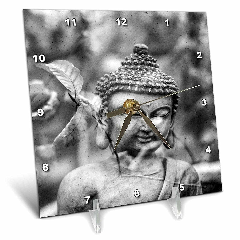 Cheap buddha symbol tattoo meaning find buddha symbol tattoo get quotations sven herkenrath buddha grey and vintage buddha asia symbol 6x6 desk clock dc2402431 buycottarizona