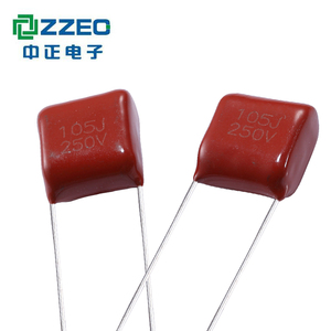105J250V CL PE film capacitor Metallized polyester mef capacitor