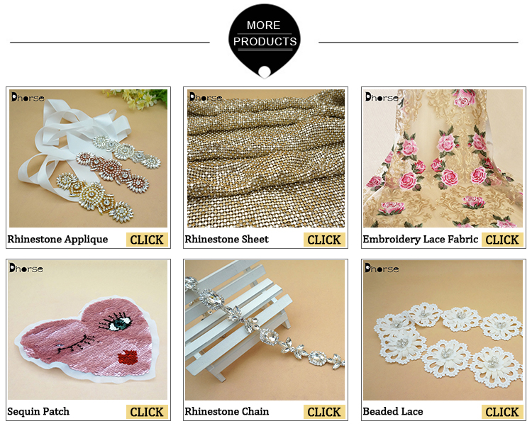 Factory direct fashion flower shaped crystal rhinestone net mesh fabric for sewing garment