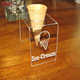 single plastic icecream holder acrylic ice cream cone display