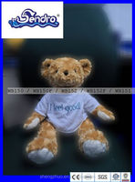 Wholesale - Cute DIY Rose pattern Teddy bear with white T-shirt