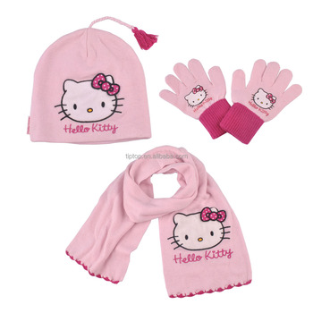 c477ddca4e7 Kids Hello Kitty Hat Scarf Gloves Set - Buy Kids Hello Kitty Hat ...