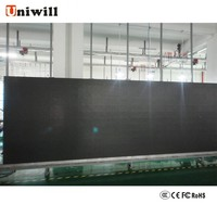 P10 indoor/outdoor led large/clear fixed installation/commercial advertising led display/steel cabinet screen