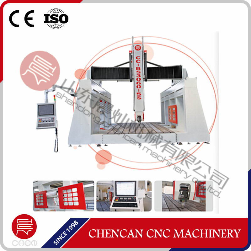 Cnc 5 Axis Horizontal And Vertical Carving / 3d Foam And Mold Engraving Machine 5 Axis Cnc Router For Sale