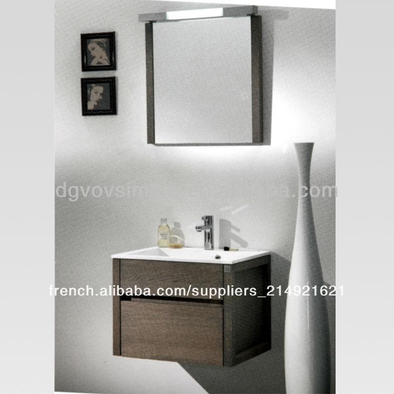 armoire meuble de rangement 700 mm Salle de bain meubles en chêne ...