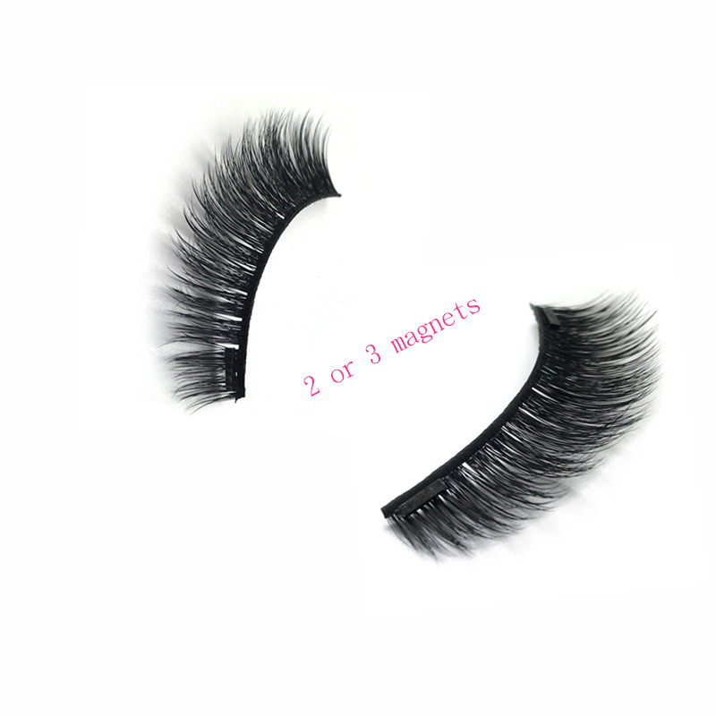 Reusable False Eyelashes No Glue To Wear Private Label 3d Magnetic