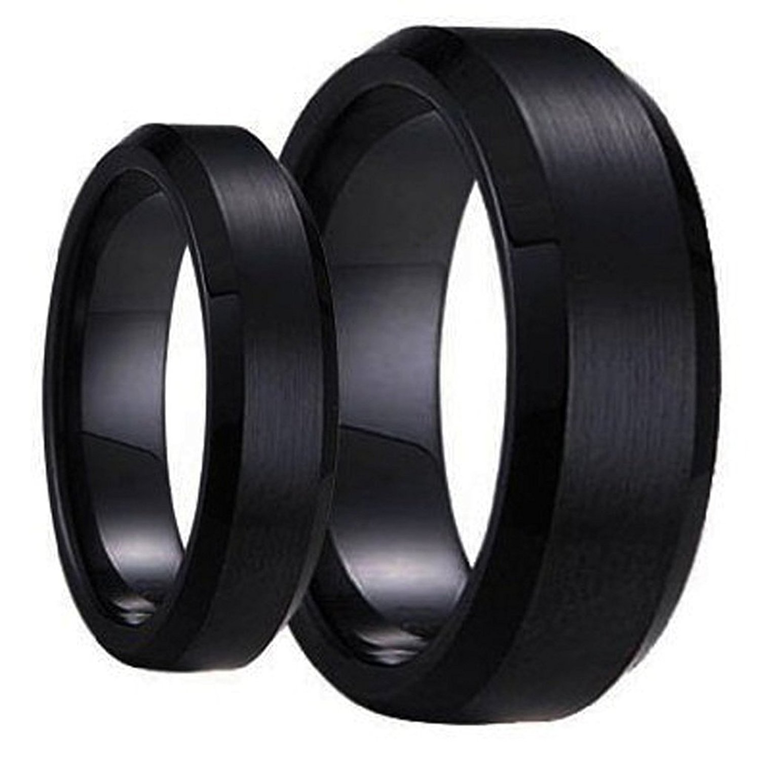 Buy Swinger Black Ring Set His Amp Her 39 S Matching 6mm 8mm