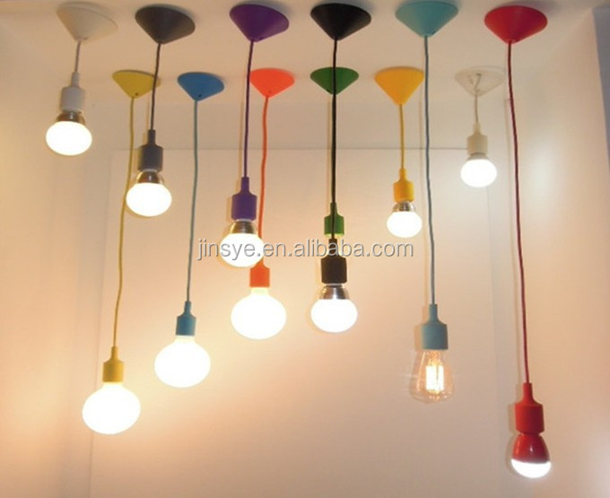 Led Diy Silicone Pendant Light Socket With Ceiling Rose For Edison ...