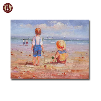 acryl schilderijen stranden voor kinderkamer - buy acryl