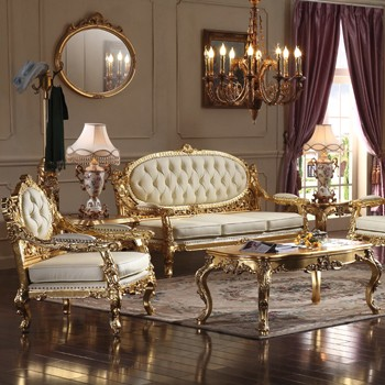 Clic European Royal Style Living Room Furniture Luxury French Sofa Set Antique Clical