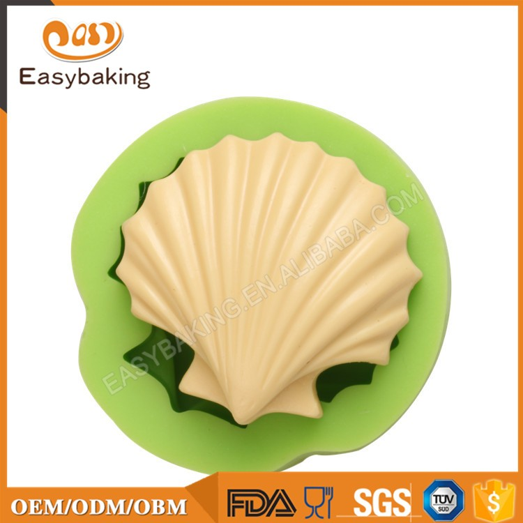 ES-0508 Seashell Shaped Silicone Molds Fondant Mould for cake decorating