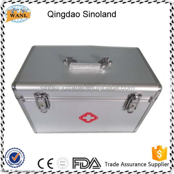 Portable medical aluminum first aid kit box