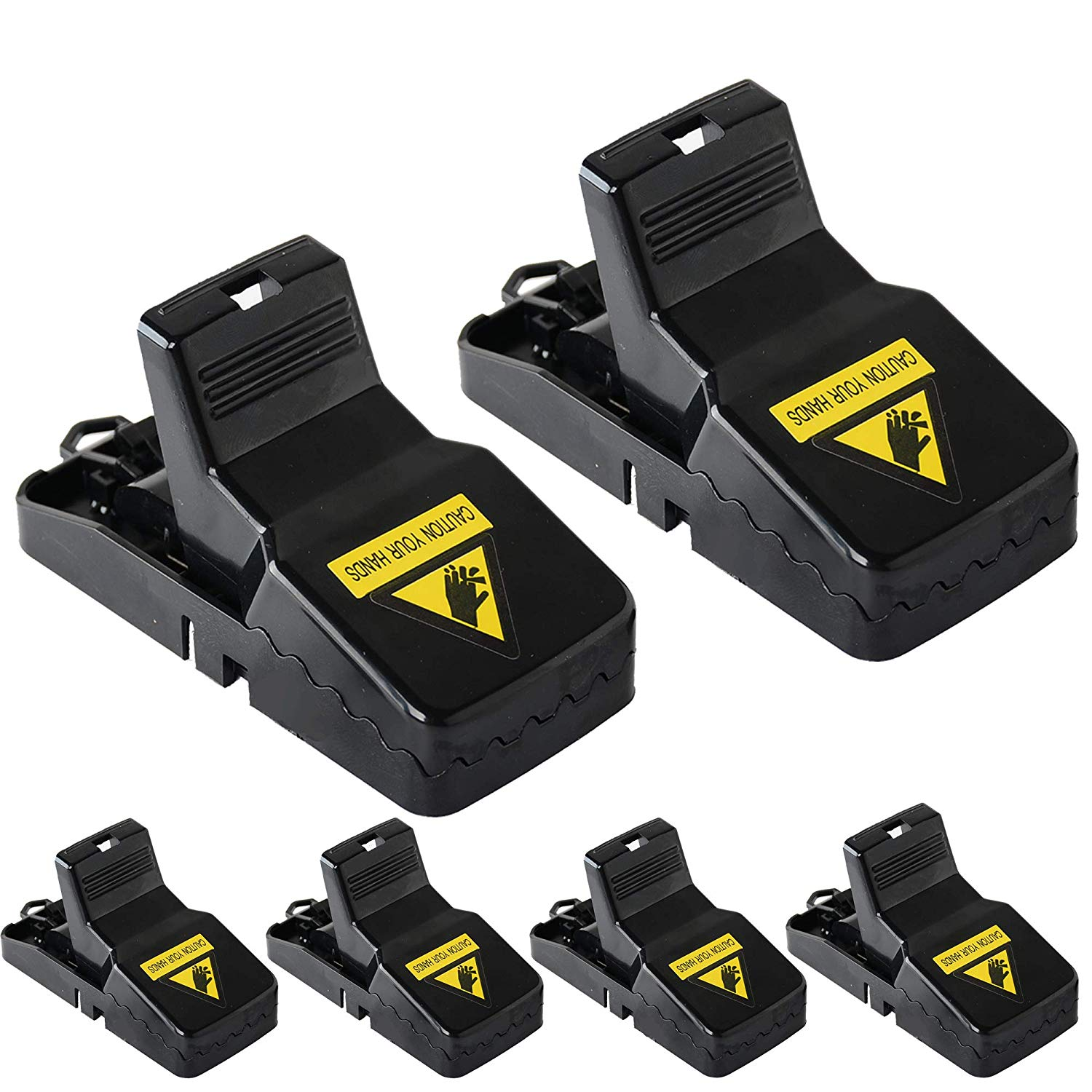 pengxiang Diaotec Mouse Trap, Rats/Mice/Rodents Snap Traps That Work Quick Kill - Sensitive Effective Mice Control/Catcher (6 Pack)