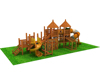 High quality children outdoor wooden swing and slide set/kids outdoor wooden playsets