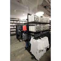 display racks clothing sports wear with portable dressing room for store
