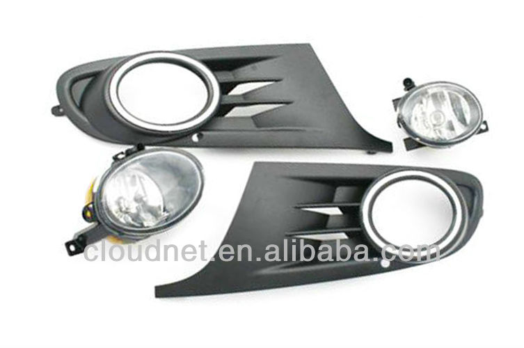 Front Fog Light & Grille Kit For VW Volkswagen Jetta Sport Wagon (JSW) 2009 Up