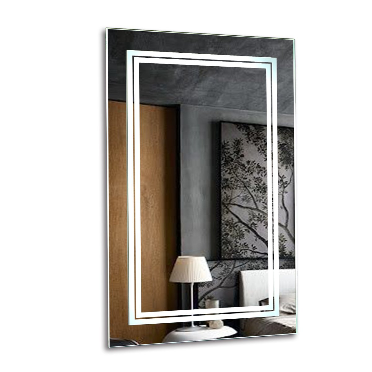 Get Quotations Somelove Alexa Enabled Wifi Wireless Led Wall Mount Lighted Vanity Bathroom Mirror Frameless Polished Edge