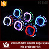 lightpoint 2.8 inch Best quality cob double angel eyes HID Bi-xenon led projector Lens light