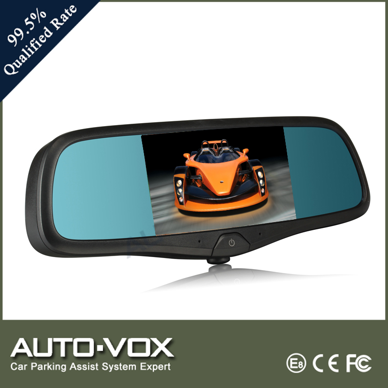 Car GPS Navigation Rearview Mirror Monitor With Many Language,Bluetooth Mirror In Car Reversing Aid