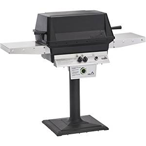 Pgs T-series T40 Commercial Cast Aluminum Freestanding Propane Gas Grill With Timer On Bolt-down Patio Post