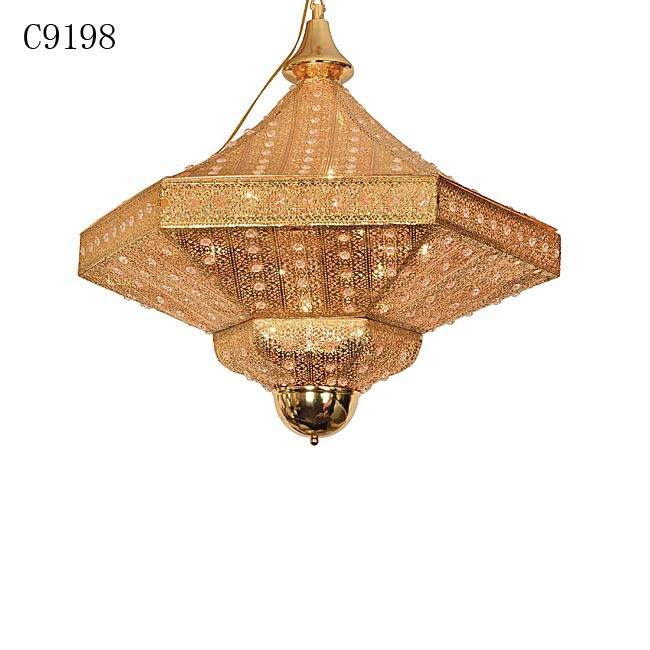 C9198 make decorative plates, moroccan lamp brass, simple glass chandelier