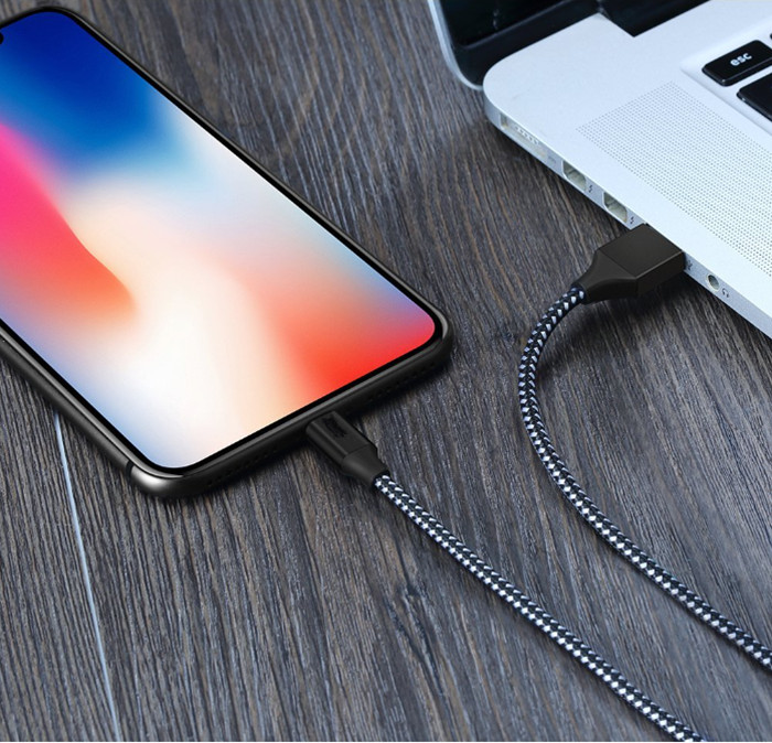 Wholesale alibaba best sellers usb fast charging data cable for iphone aluminum alloy nylon braided cables with aluminum foil