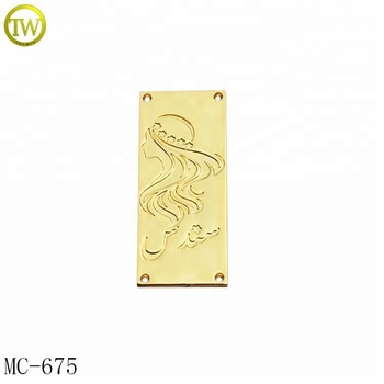 Beautiful design garment metal tag stamped logo metal label for swimwear