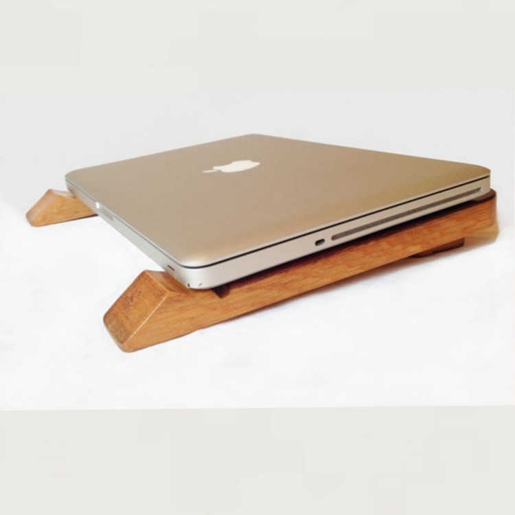 recycled oak wine barrel staves laptop stand holder rack