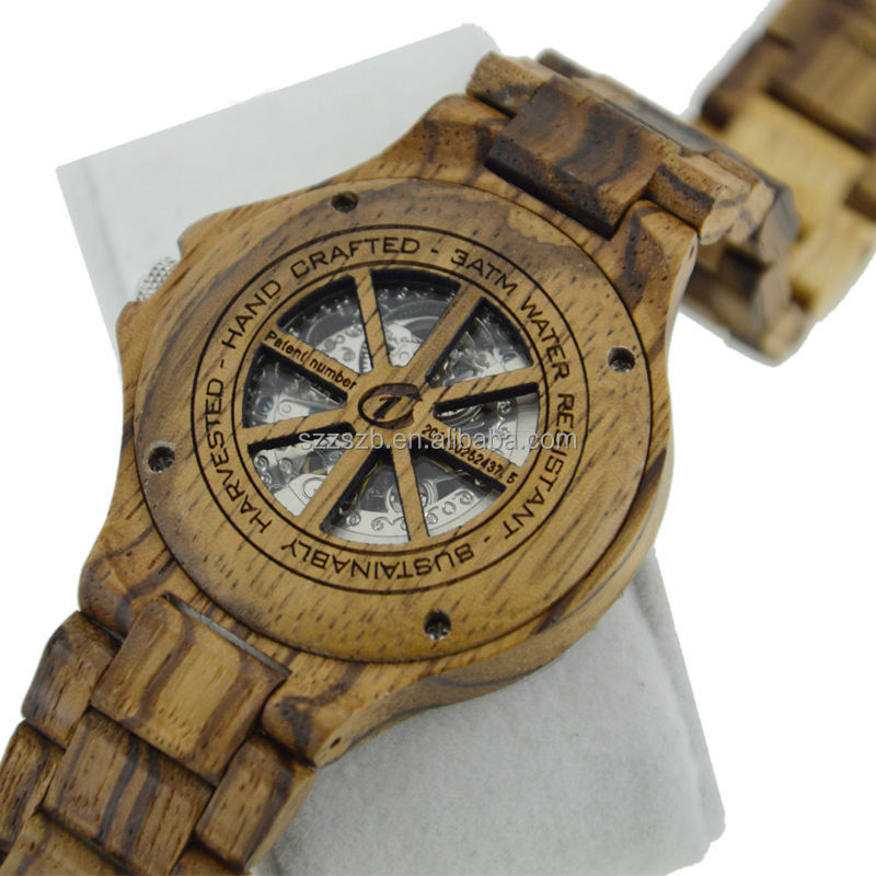 expensive super quality 100% natrual wooden see through skeleton expensive super quality 100% natrual wooden see through skeleton automatic mechanical watch wood