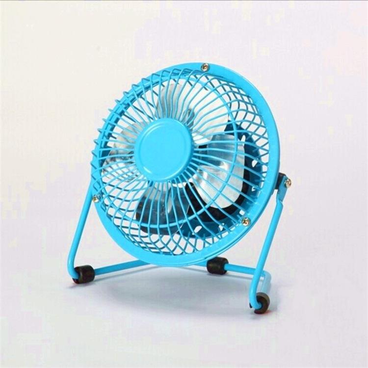 "4""6"" Mini USB Student Computer Aluminum Leaf Iron Mute Fan"