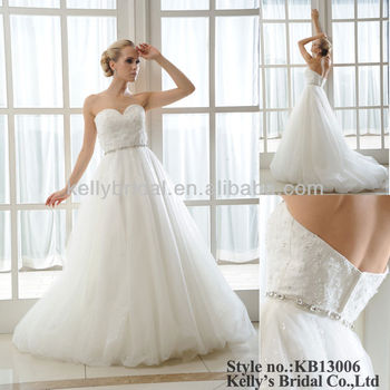 Lace And Shiny Tulle Wedding Dresses For Pregnant Women - Buy ...