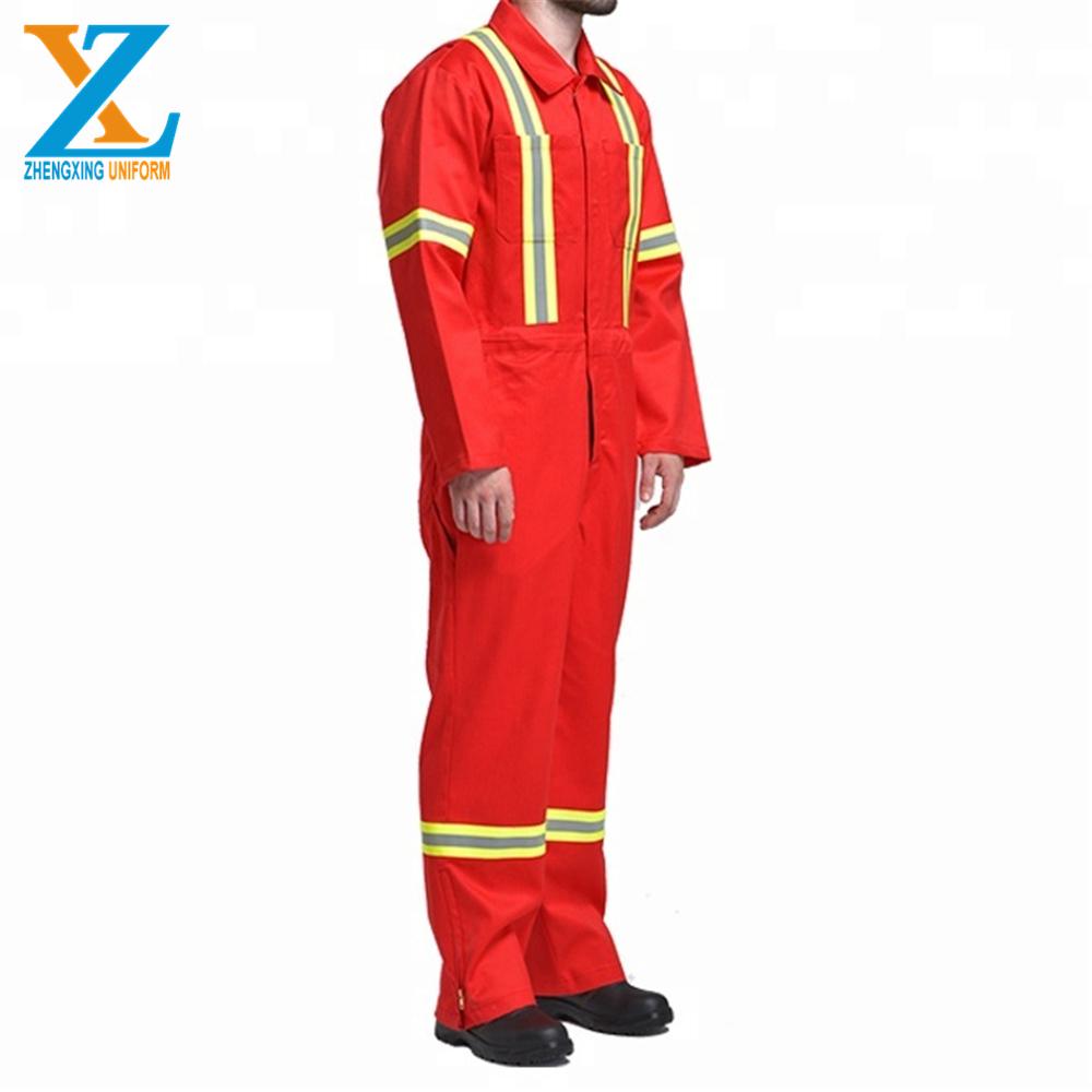 Servicio de OEM de los hombres retardante de fuego de algodón anti-estática overol ropa