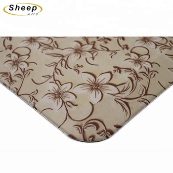 Wholesale Brown printed anti-skid and anti-fatigue kitchen floor mats