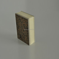 1220*2440mm rock wool external fire resistant polystyrene wall panel