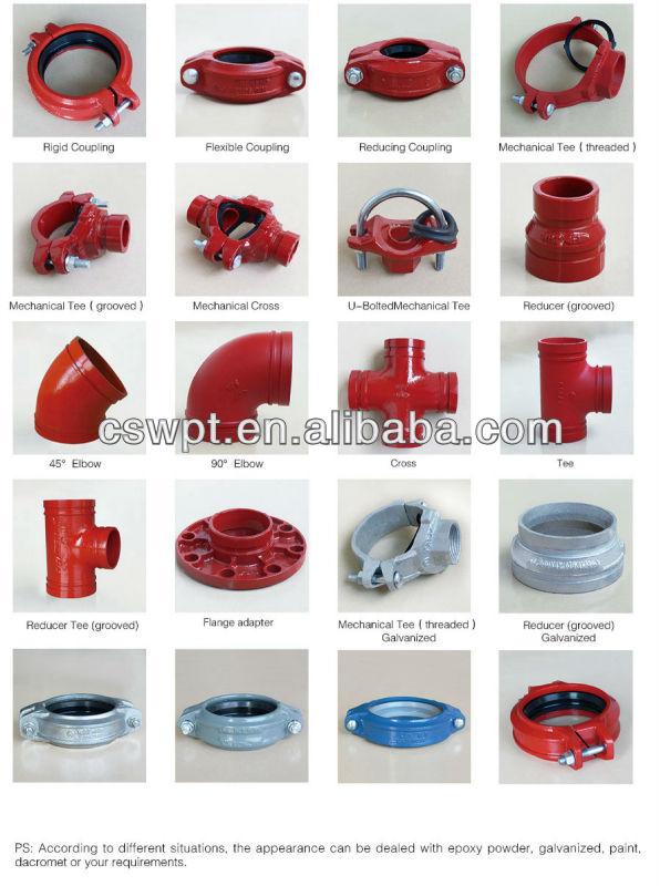 Fire Suppression Pipe : Encaixe de tubulação proteção contra incêndio fogo