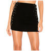 OEM Chinese manufacturer Velveteen fabric Side Lace up Mini Skirt