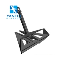High holding power Heavy duty Marine steel flipper Delta Anchor Hall Bower anchor JIS stockless anchor