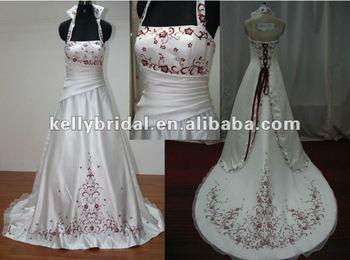Vestidos de novia en organza bordada