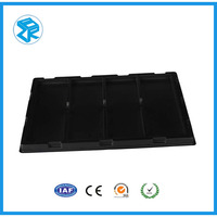 china suppliers custom electronic packaging blister tray non-toxic black plastic pallets