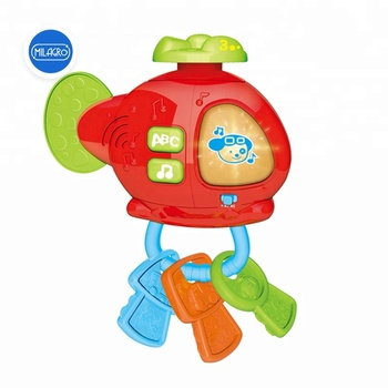 Play Key For Baby Helicopter Toy Plastic Rattle Musical Baby Toy