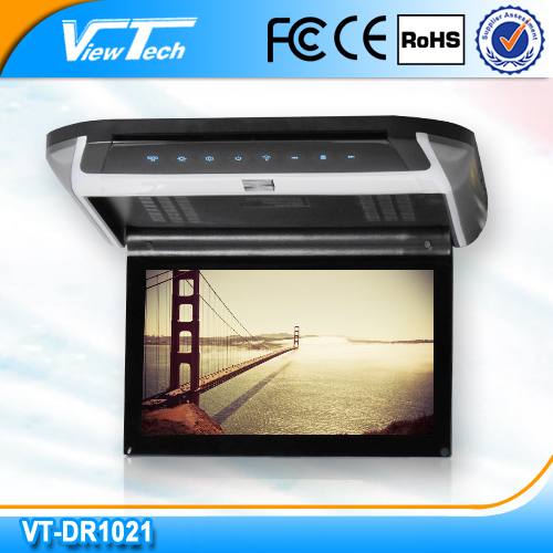 10.2 inch easy installation roof mounted car dvd player