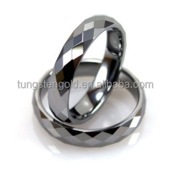 faceted wedding ring tungsten carbide new gold ring models for men women - Men And Women Wedding Rings