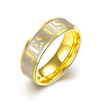 New European and American fashion Religious jesus cross ring 316l stainless steel ring for men